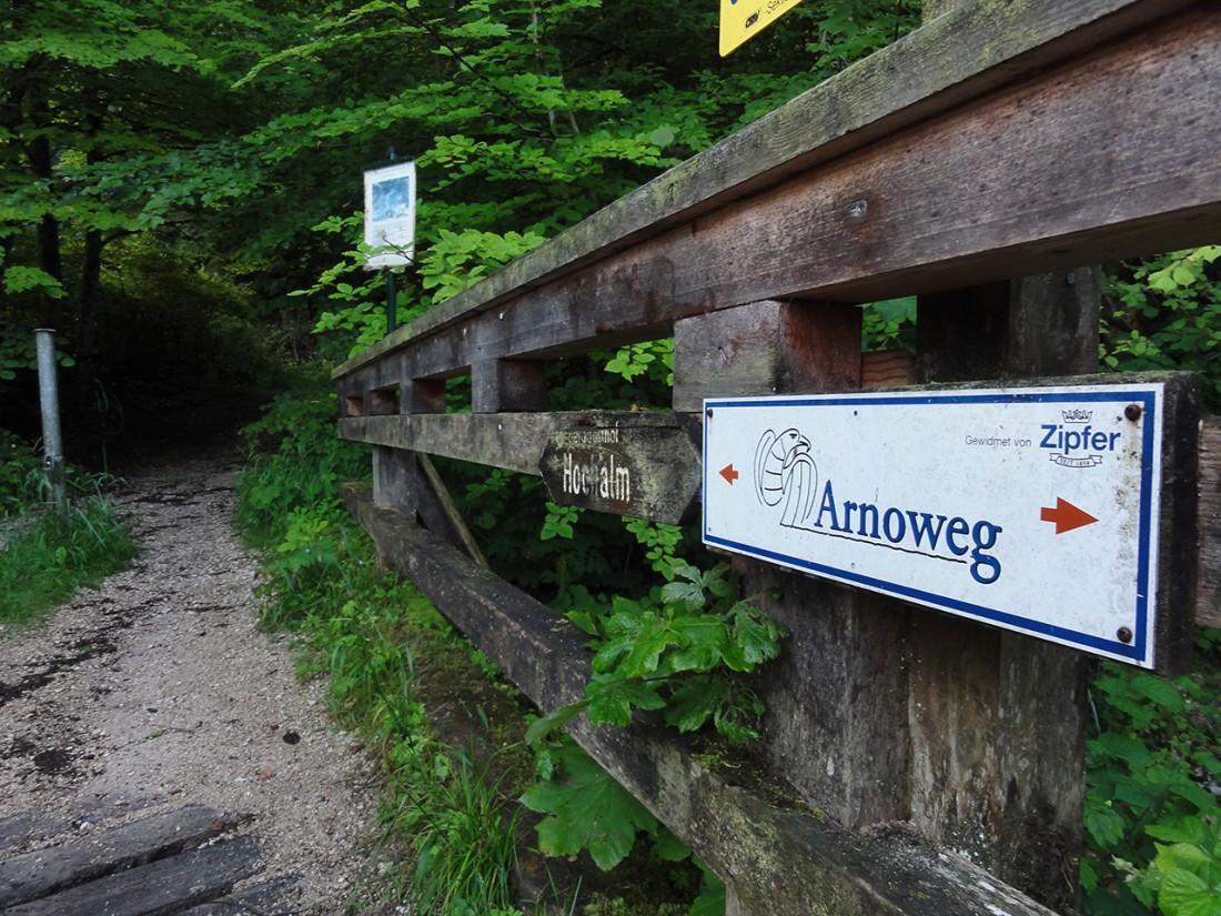 Arnoweg: Einstieg Richtung Doppler-Steig