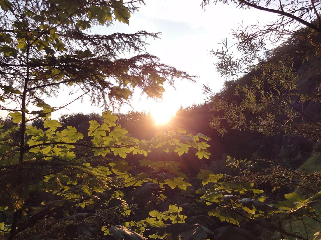 Arnoweg: Sonnenaufgang am Anfang des Doppler-Steigs