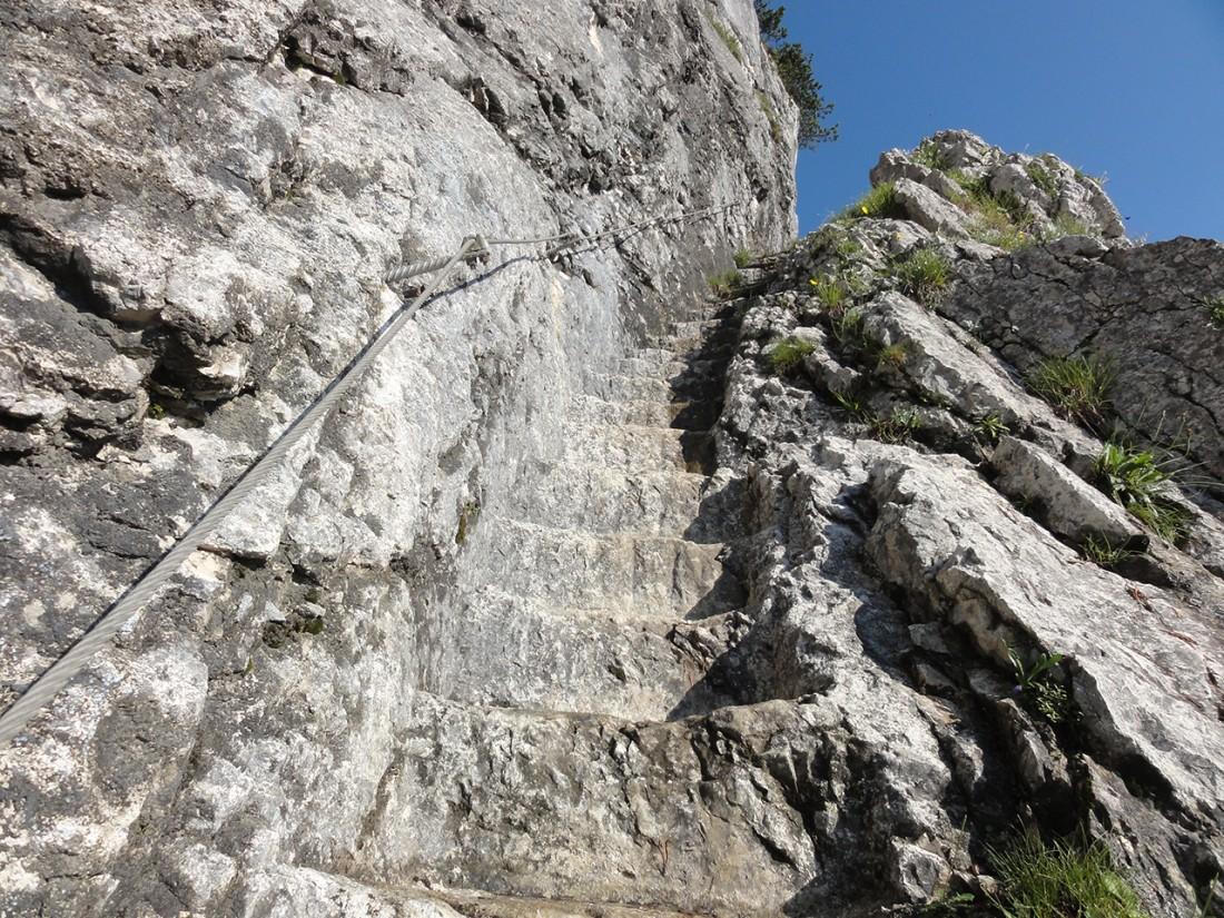 Arnoweg: Die vielen Stufen durch die Doppler-Wand