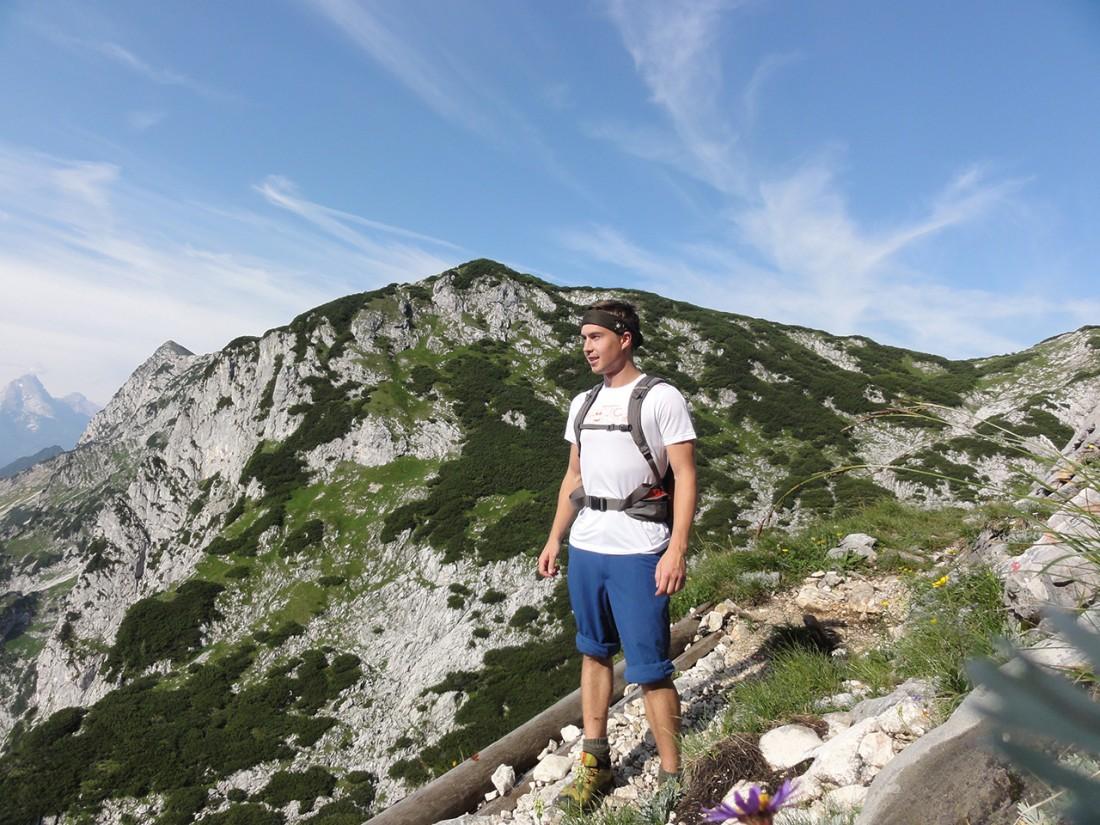 Arnoweg: Ausblick Richtung Berchtesgaden von der Mittagsscharte
