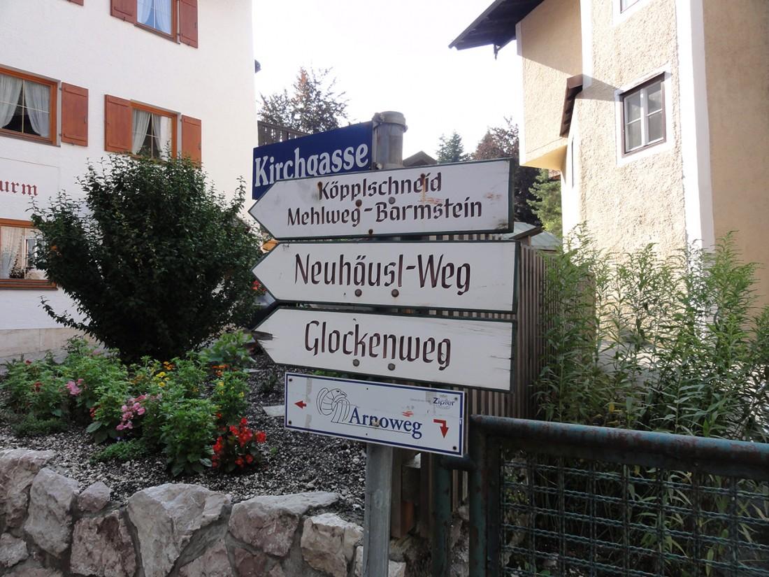 Arnoweg: Anfang der 3. Etappe in Marktschellenberg
