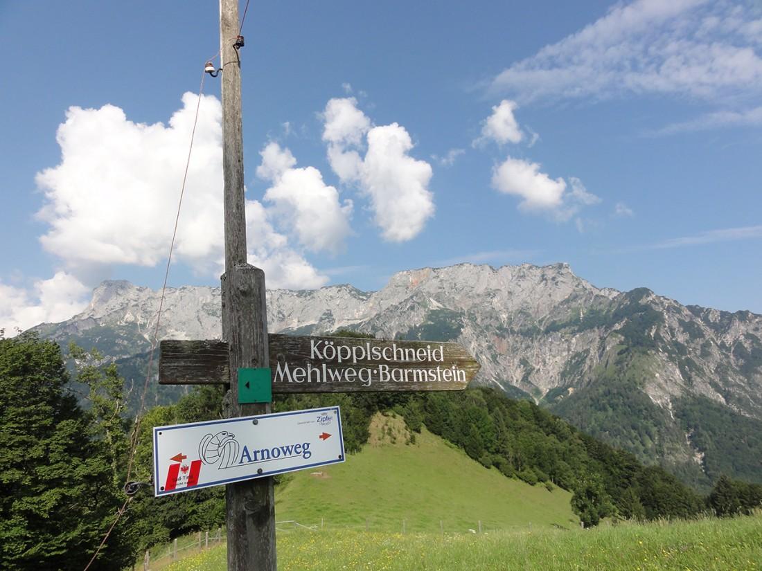 Arnoweg: Weg Richtung Köpplschneid vor dem Untersberg