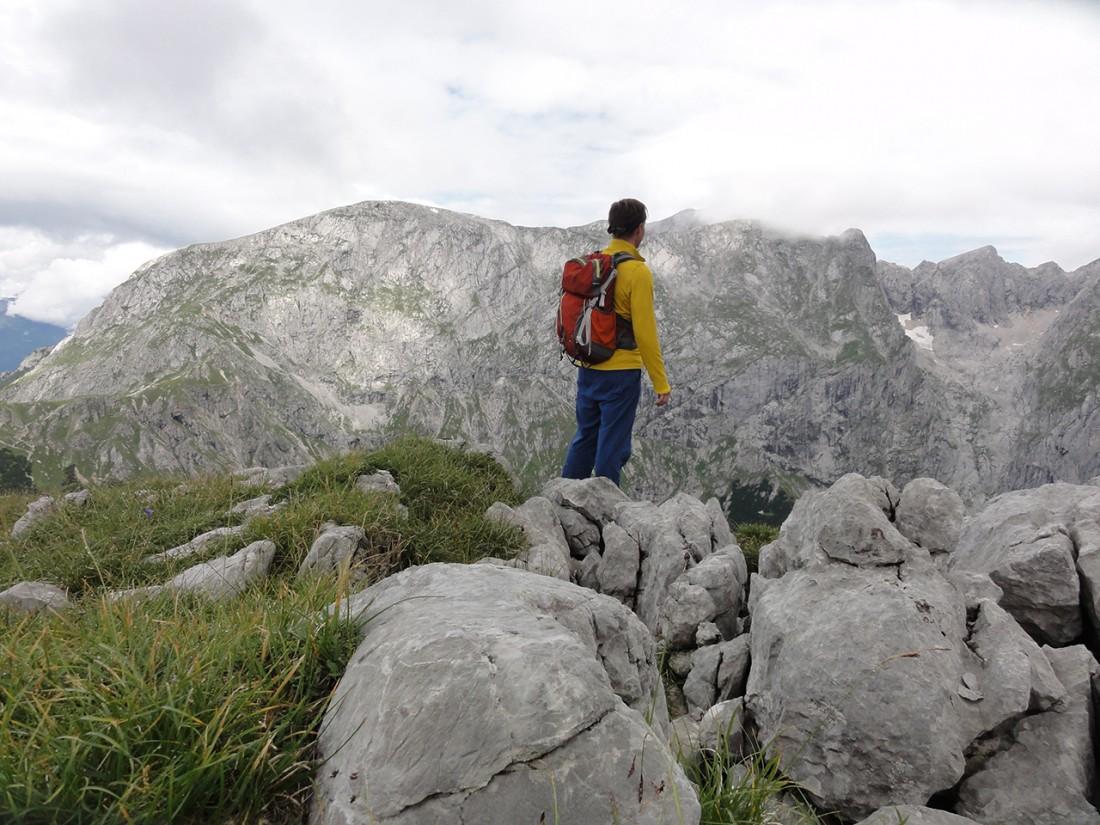 Arnoweg: Blick vom Schneibstein Richtung Hoher Göll