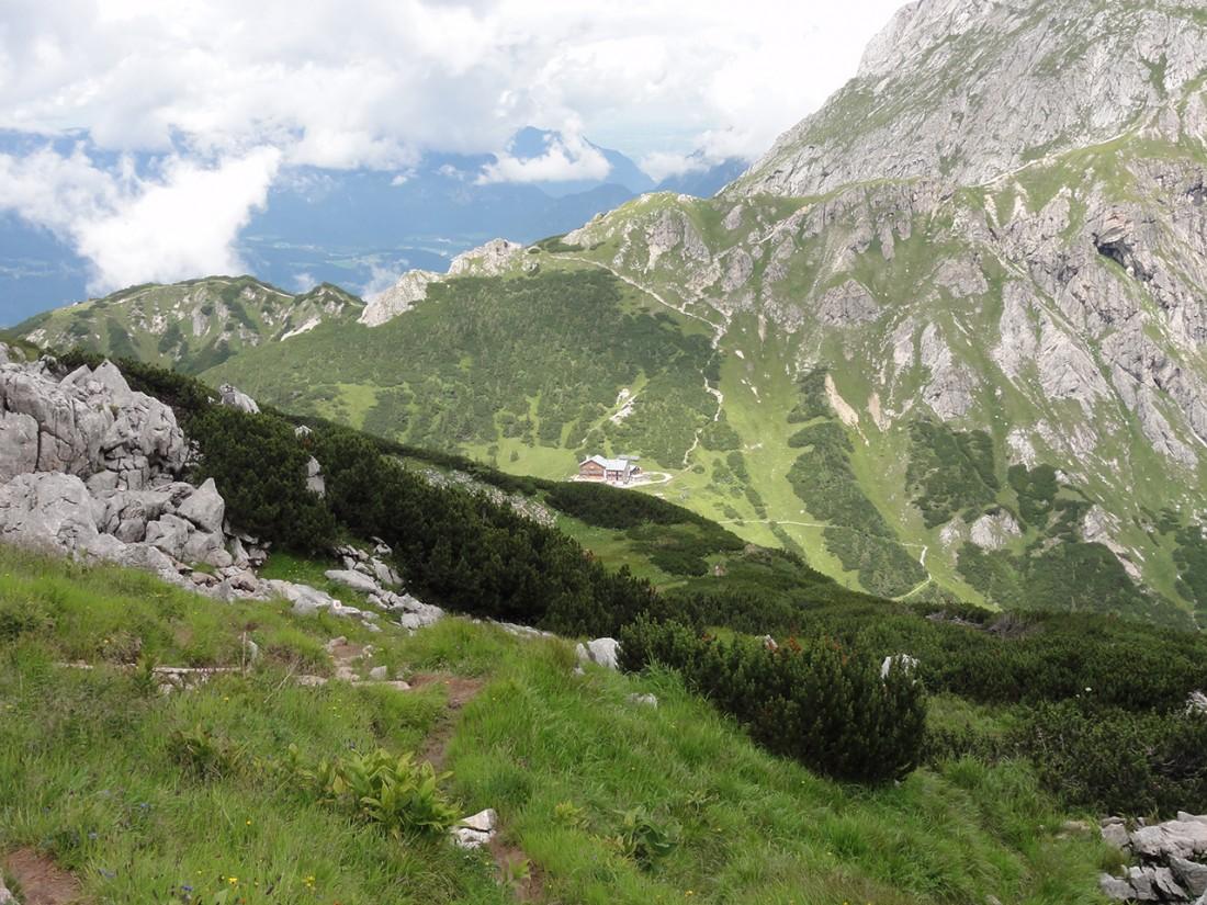 Arnoweg: Blick zurück vom Schneibstein Richtung Carl-von-Stahl-Haus