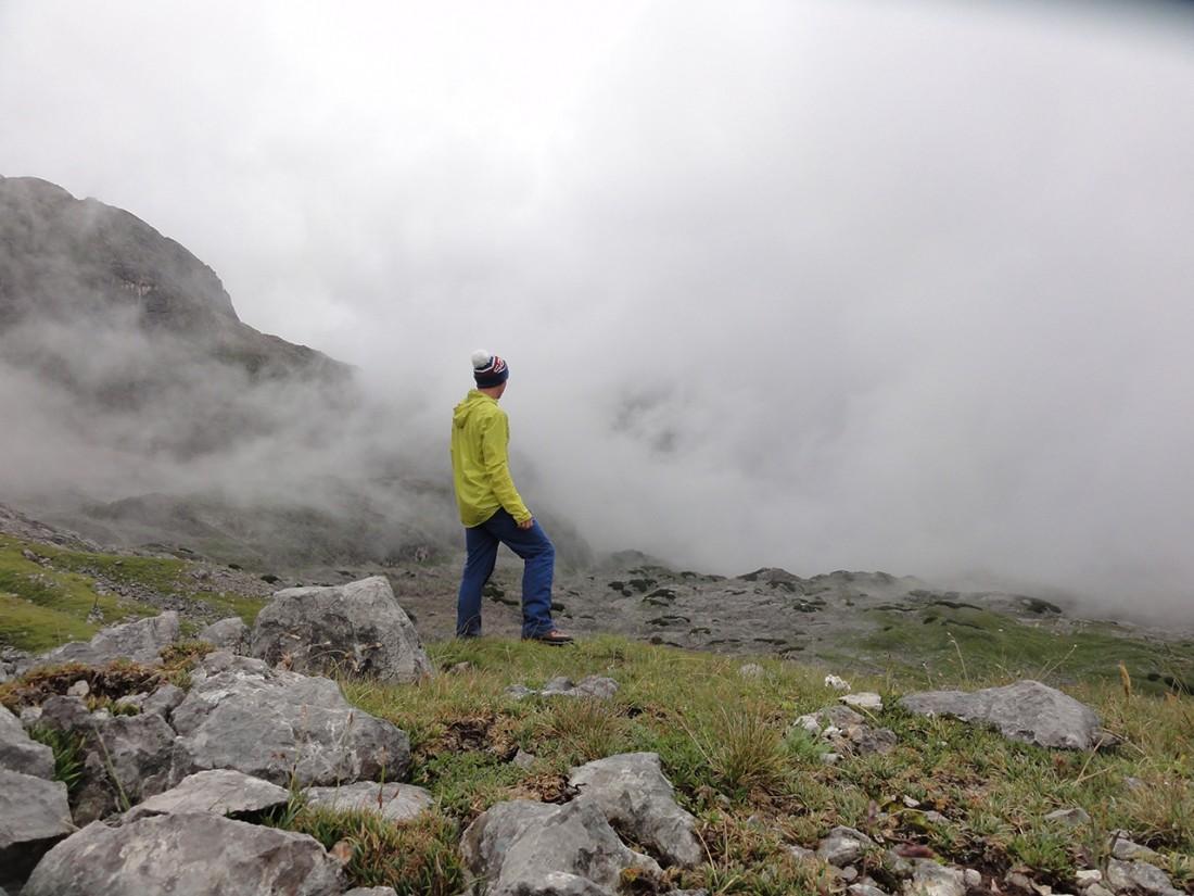 Arnoweg: Blick zurück über das Steinerne Meer