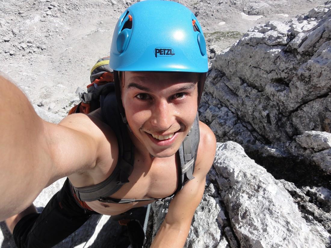 Arnoweg: Zeit für ein Selfie im Klettersteig Wilder Hund