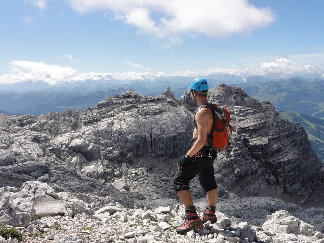 Arnoweg: Blick Richtung Westen und Tirol