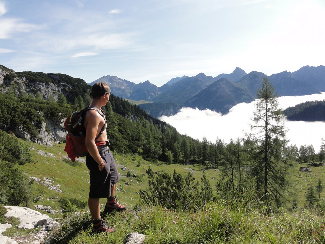 Arnoweg: Blick zurück über das Saalachtal