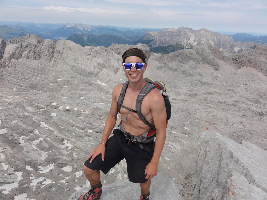 Arnoweg: Kurz vor dem Gipfel des Birnhorns hoch in den Leoganger Steinbergen