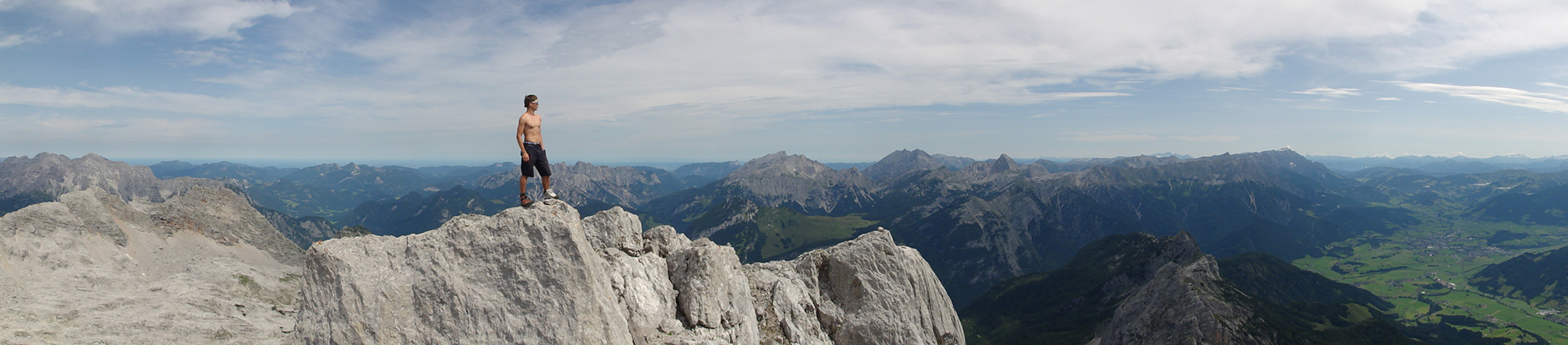 Arnoweg: Panorama am Gipfel des Birnhorns (2634 m)