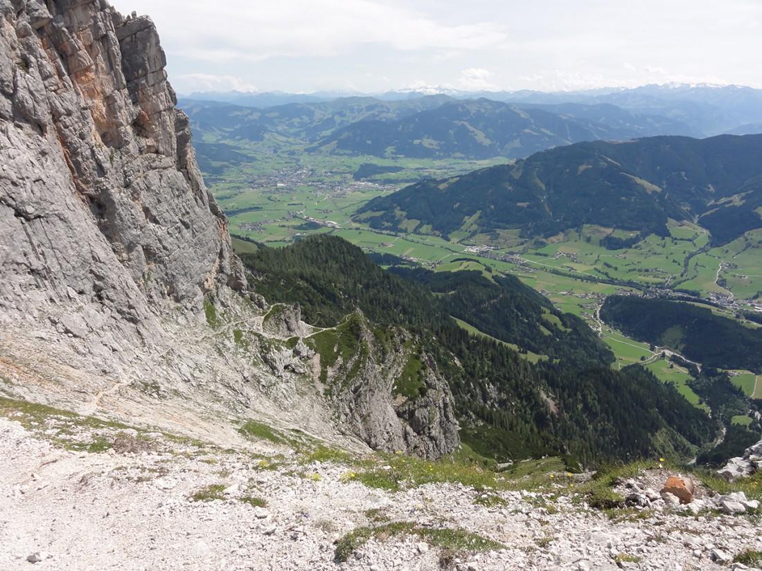 Arnoweg: Der Abstieg Richtung Leogang und weiter nach Saalfelden