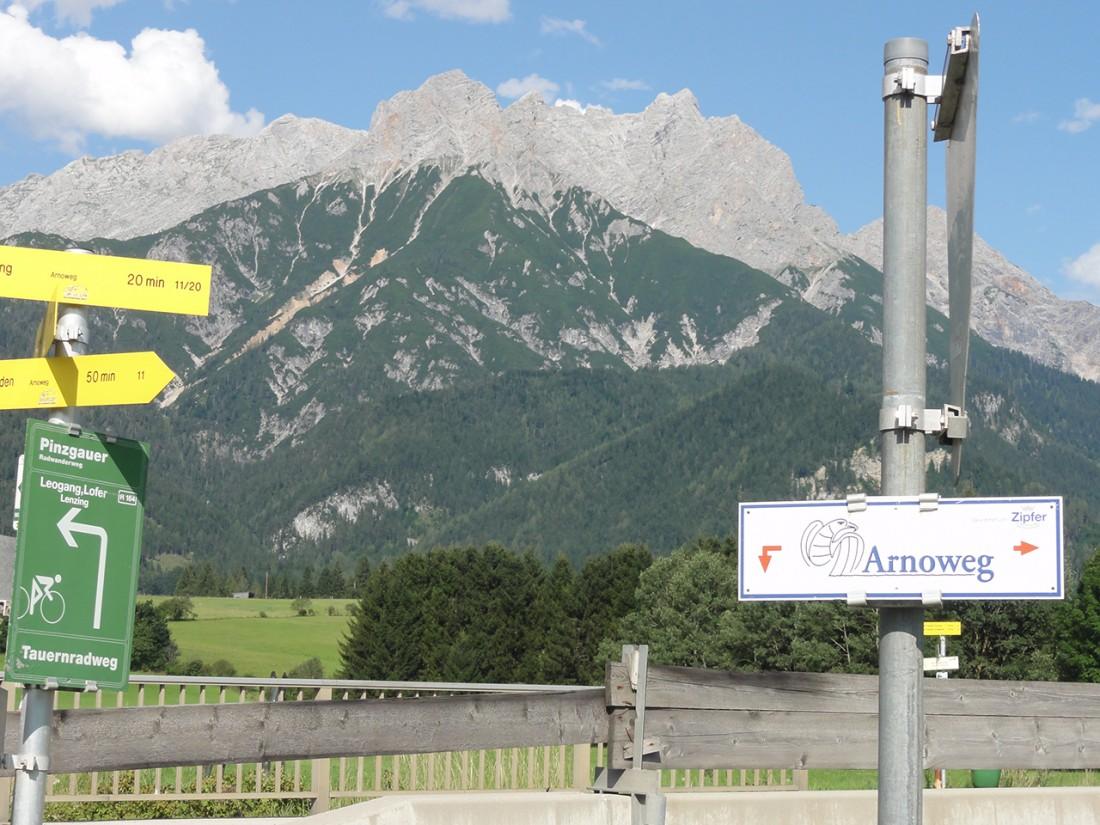 Arnoweg: Kurz vor Saalfelden, dem Ziel der 12. Etappe des Arnowegs