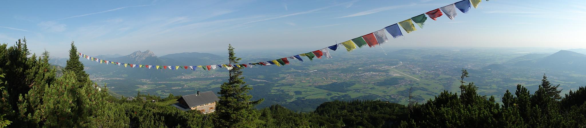 Arnoweg: Am Untersberg über dem Zeppezauer-Haus mit traumhaften Ausblick über Salzburg
