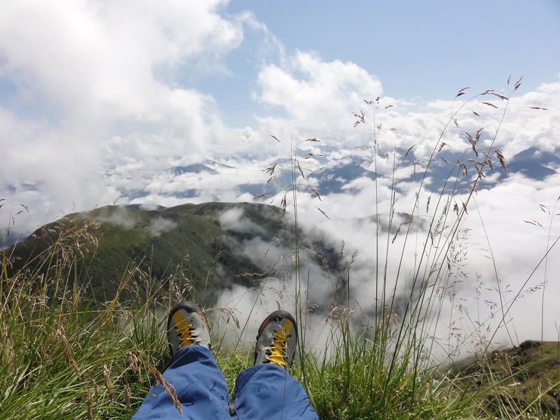 Arnoweg: Das Wolkenmeer bot eine beeindruckende Kulisse.