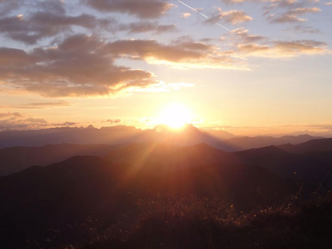 Arnoweg: Was für ein herrlicher Morgen bei Sonnenaufgang am Gaißstein