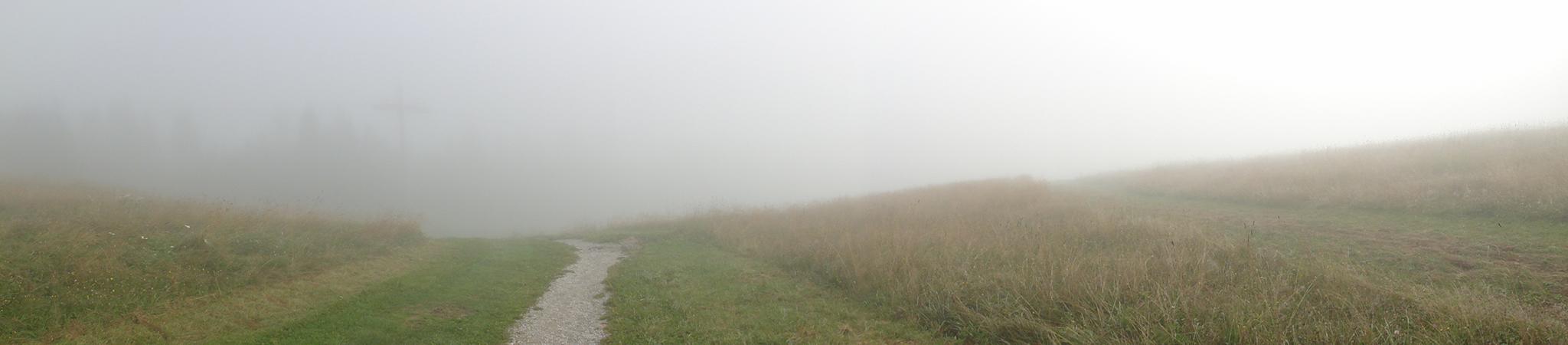 Arnoweg: Der Aufstieg auf die Schmittenhöhe bot aufgrund des Nebels eine ganz besondere Stimmung.