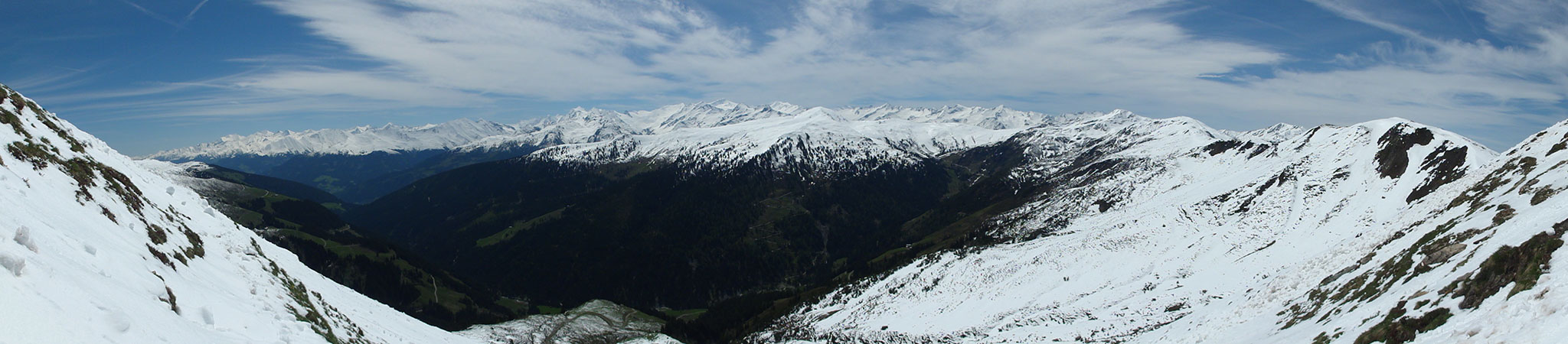 Arnoweg: Blick vom Steinfeldjoch Richtung Süden