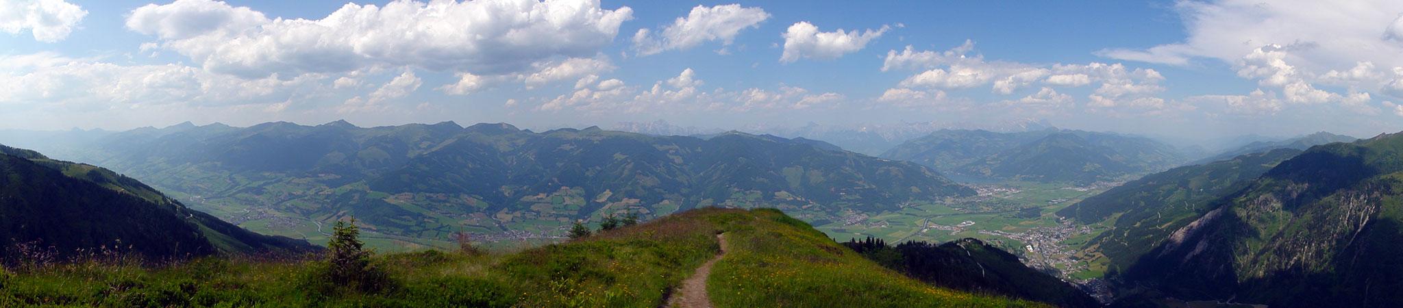 Arnoweg: Das Salzachtal im Pinzgau mit Zeller See und Kaprun