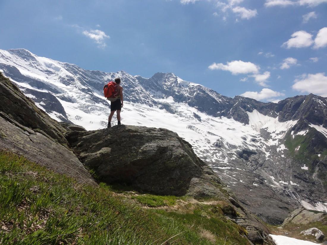 Arnoweg: Blick zurück nach Westen zur Dreiherrenspitze