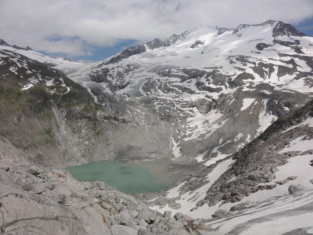 Arnoweg: Der Sulzsee, ein Gletschersee am Fuße des Großvenedigers