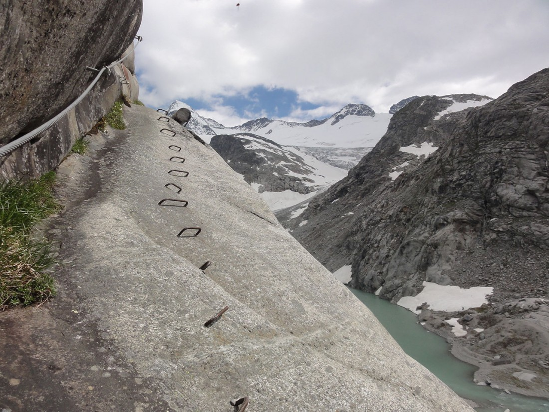 Arnoweg: Der neue Klettersteig auf die Kürsinger Hütte ist an Ausblicken kaum zu überbieten.