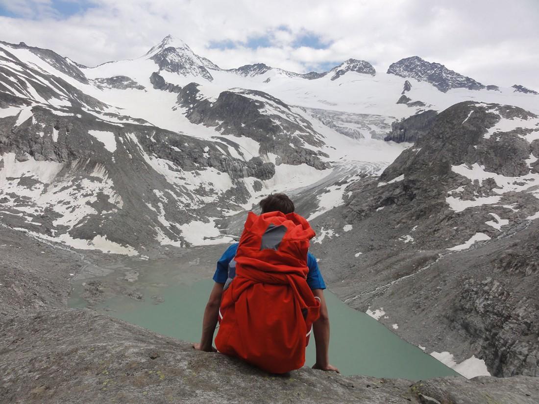 Arnoweg: Kurze Pause während dem Aufstieg
