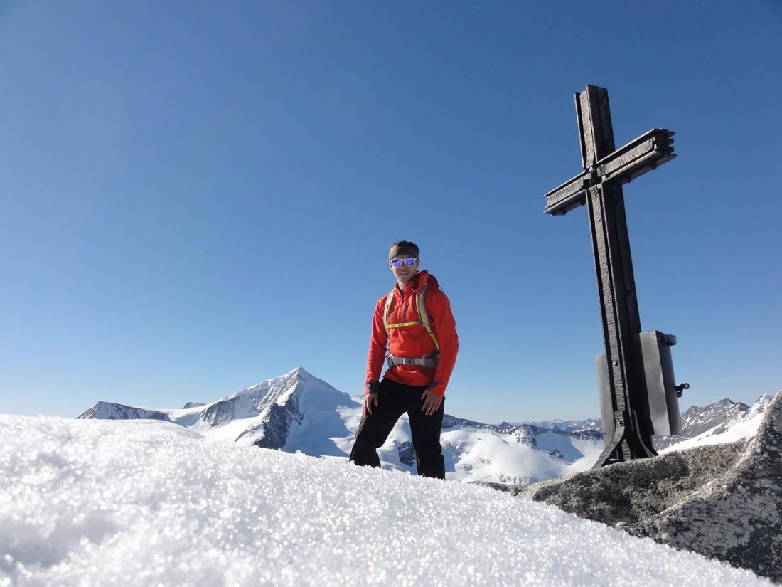 Arnoweg: Am Gipfel des Keeskogel (3291 m)