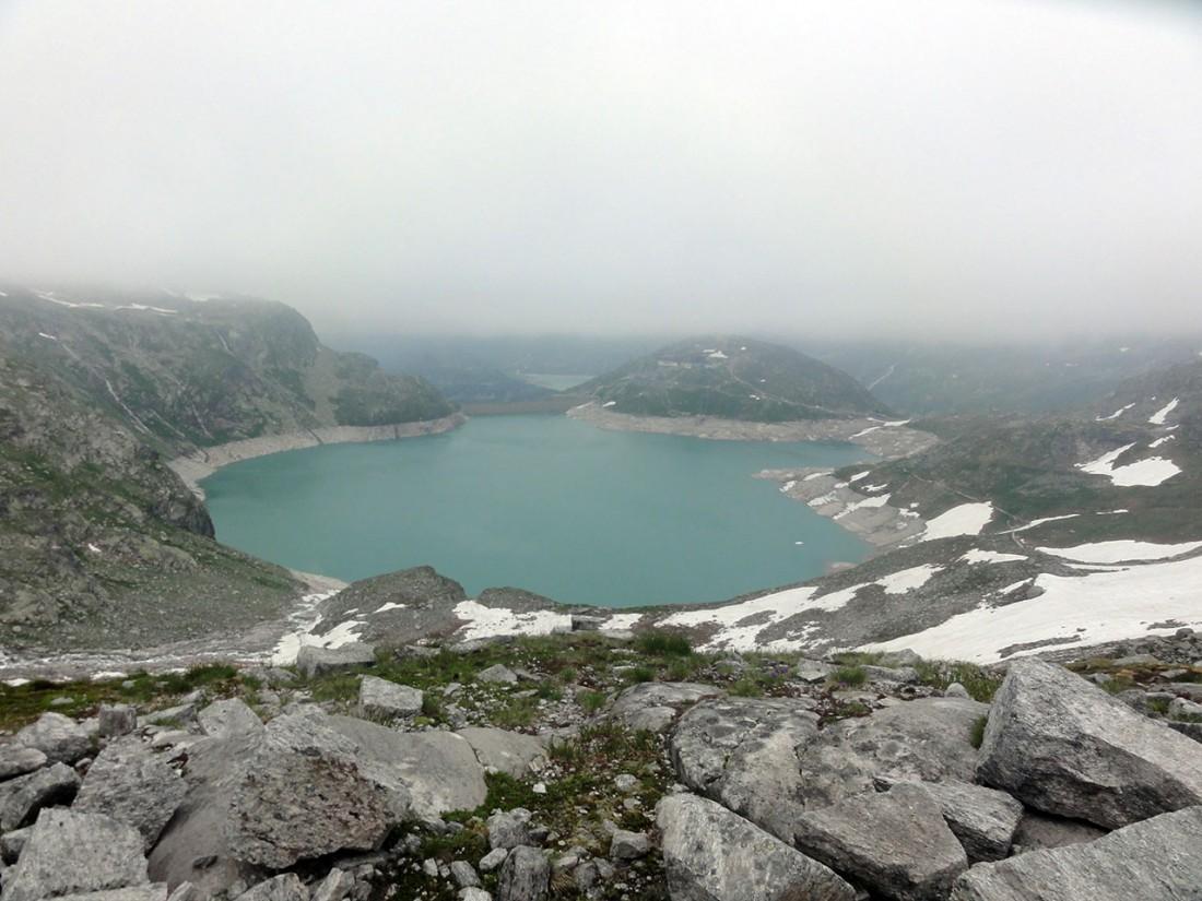 Arnoweg: Weißsee mit Berghotel Rudolfshütte