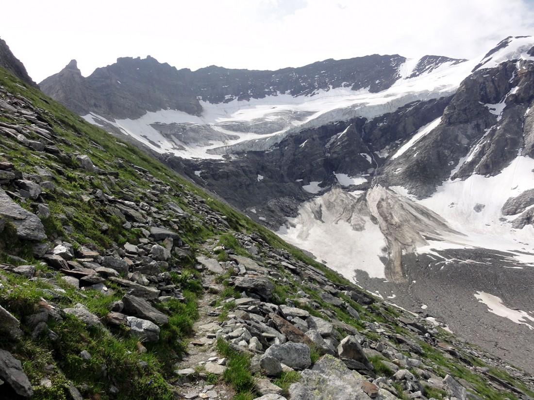 Arnoweg: Die Gletscherbrüche sind beeindruckend.
