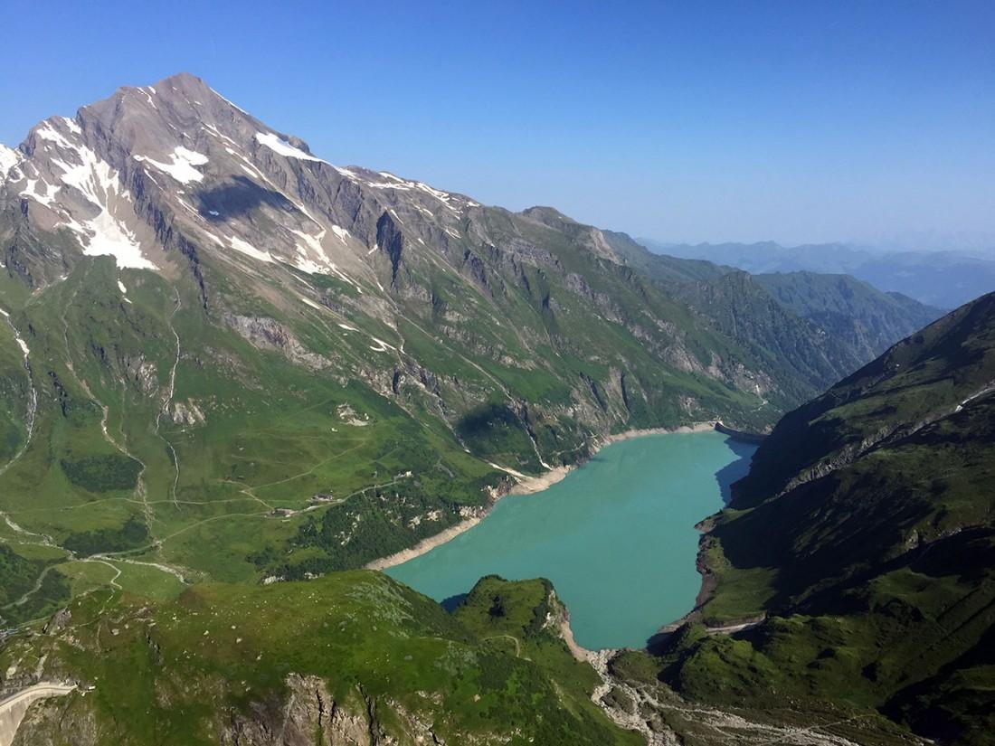Arnoweg: Das Kitzsteinhorn mit dem unteren Speicher Wasserfallboden