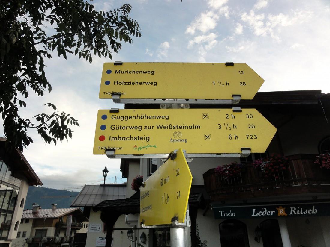 Arnoweg: Vom Ortskern in Kaprun geht es über den Imbachsteig Richtung Gleiwitzer Hütte.