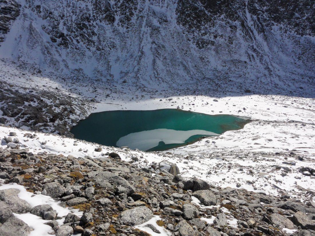 Arnoweg: Blick Richtung Süden zu einem kleinen Gletschersee