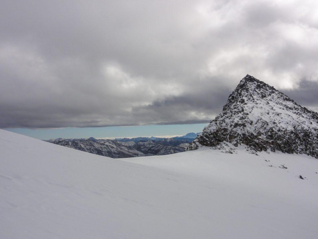 Arnoweg: Goldbergspitze (3027 m) und Blick Richtung Süden