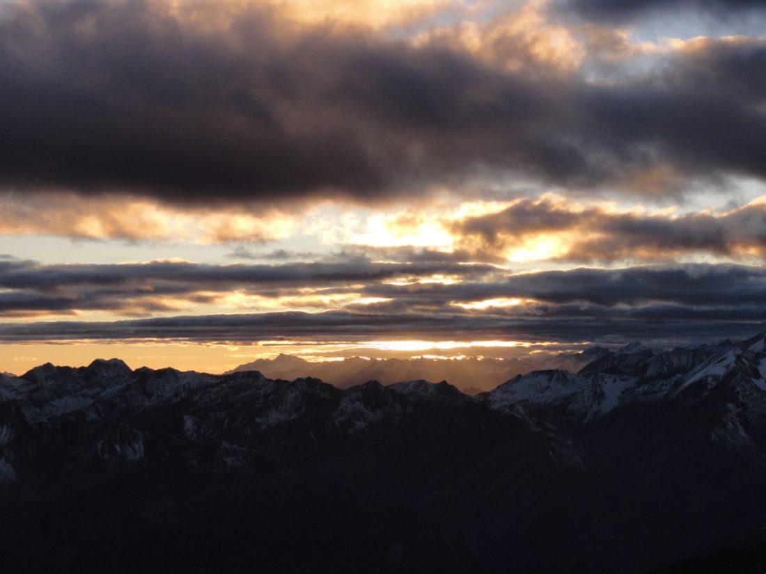 Arnoweg: Sonnenuntergang im Westen