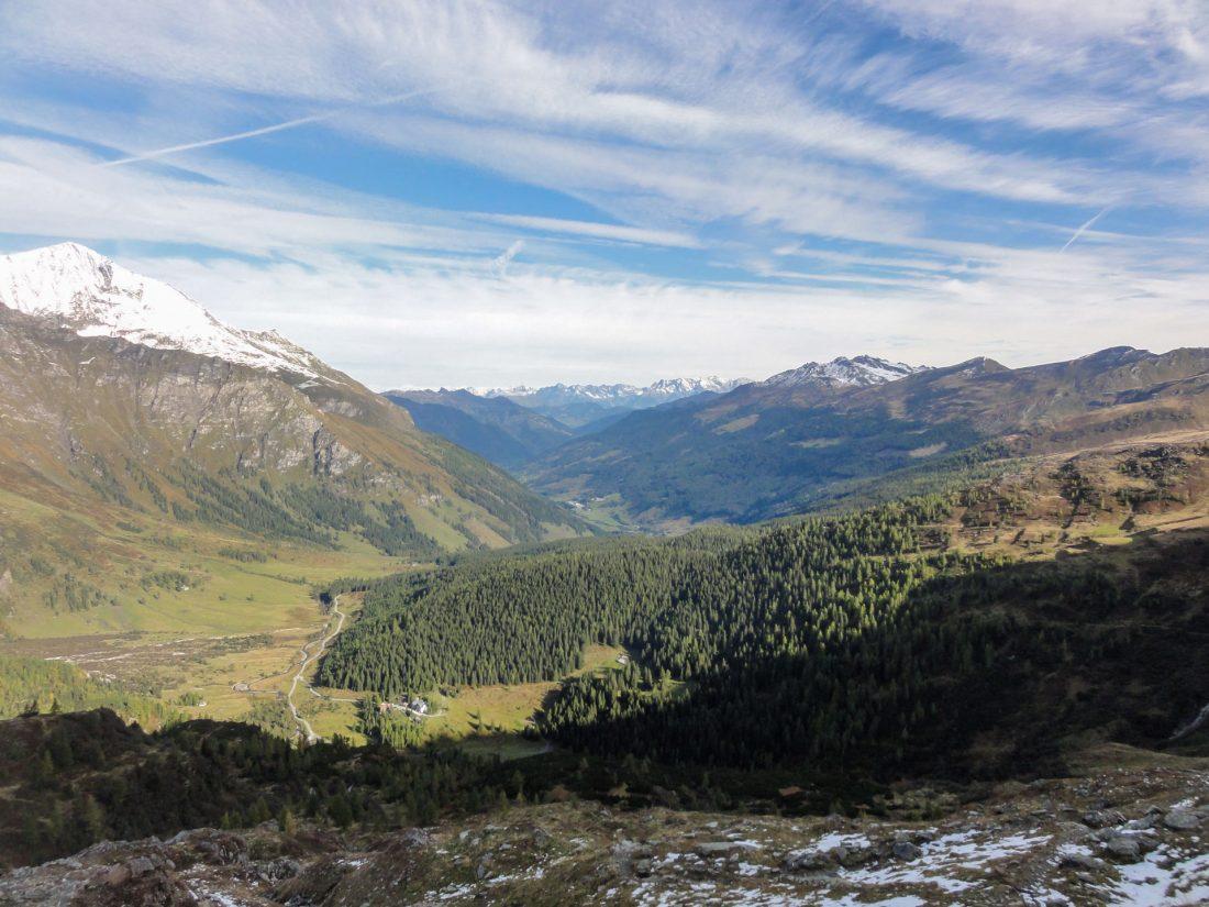 Arnoweg: Blick Richtung Norden ins Rauriser Tal