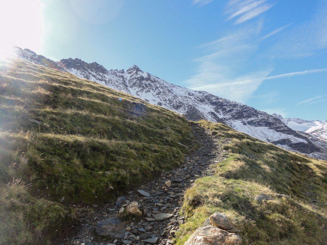 Arnoweg: Der Niedersachsenhausweg auf die Riffelscharte