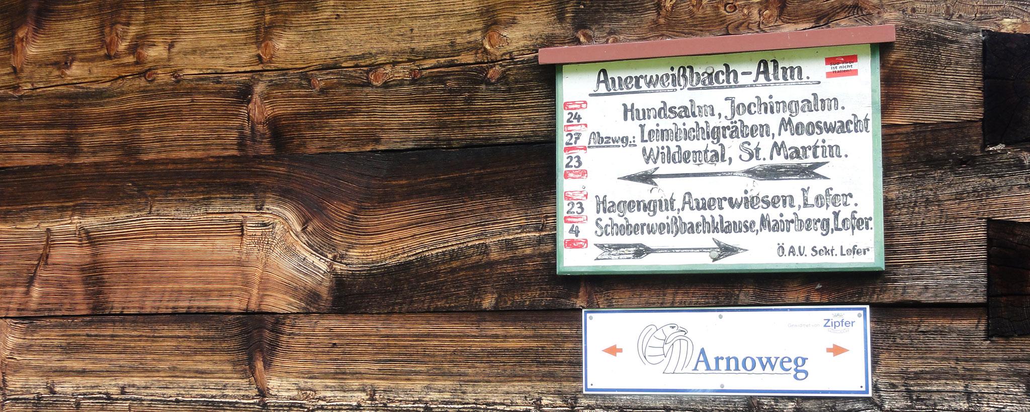 Arnoweg Schild