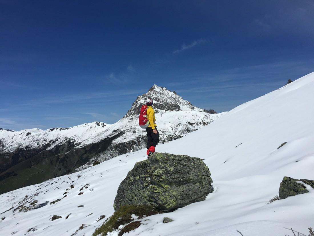 Arnoweg: Im Hintergrund der große Rettenstein (2366 m)
