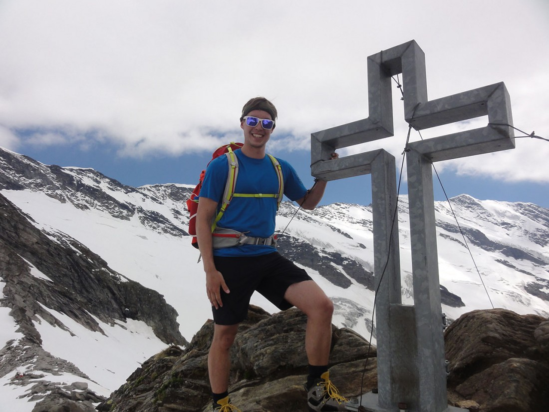 Arnoweg: Am Gipfel des Gamsspitzl (2888 m)