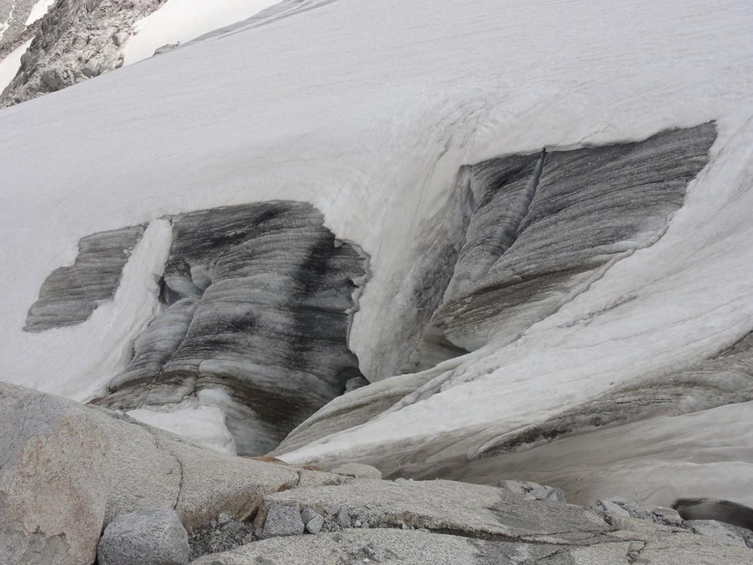 Arnoweg: Gletscherspalten am Obersulzbachkees vermeidet man lieber.