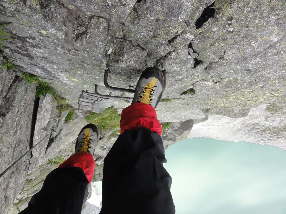 Arnoweg: Die letzten Stufen des Klettersteigs auf die Kürsinger Hütte