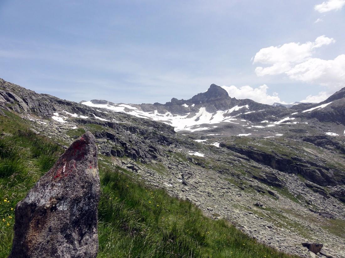 Arnoweg: Blick zum Glockenkogel über dem Dabersee