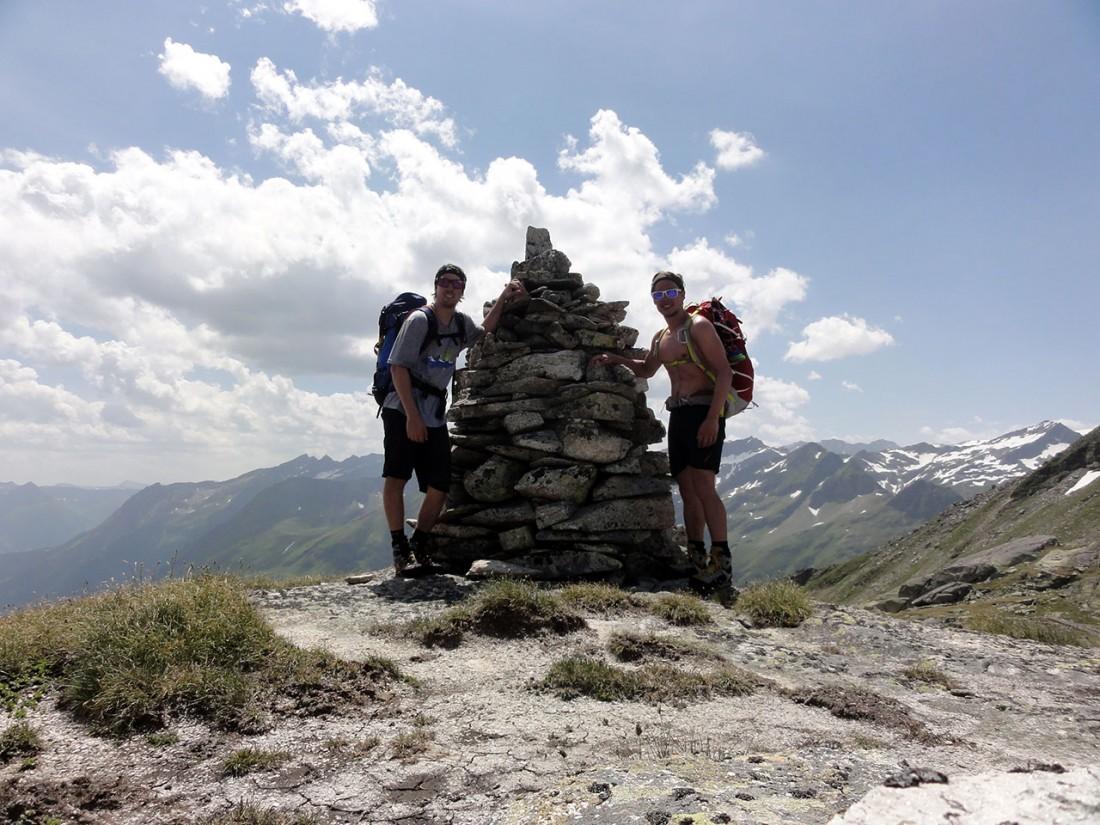 Arnoweg: Steinmandl auf der Haupmerscharte