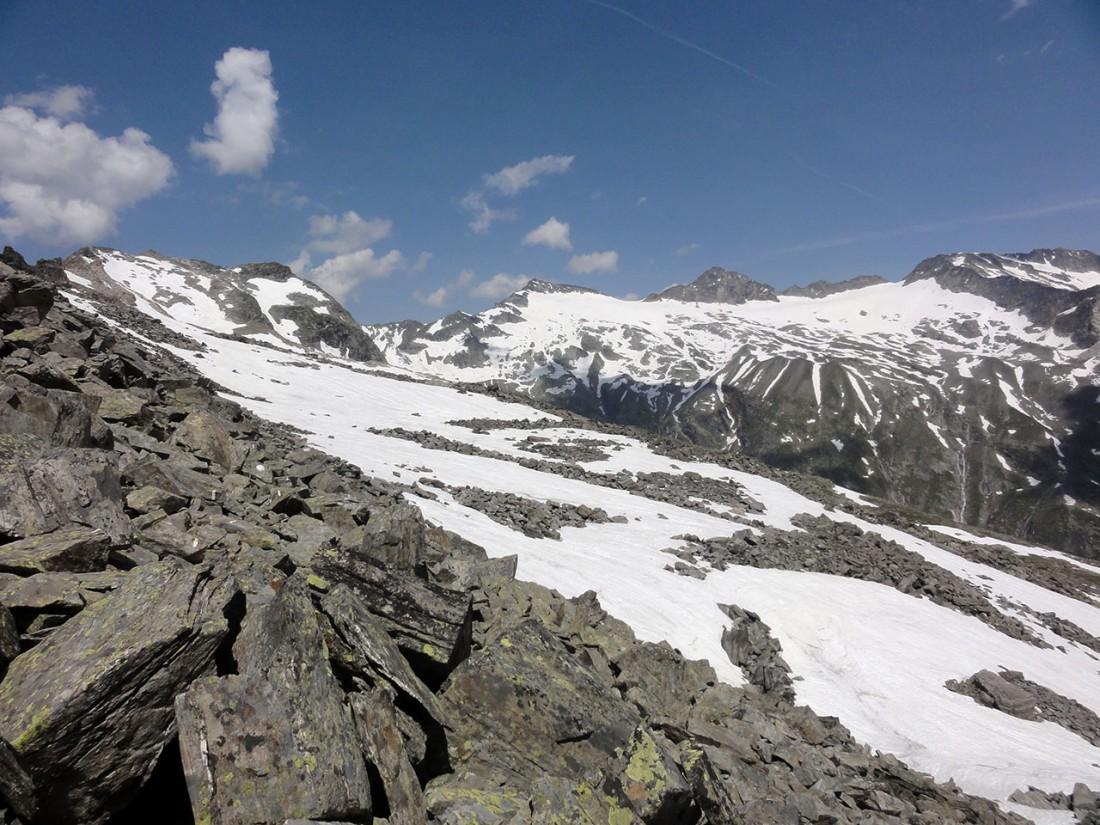 Arnoweg: Blick Richtung Granatscharte mit Stubacher Sonnblick und Granatspitze
