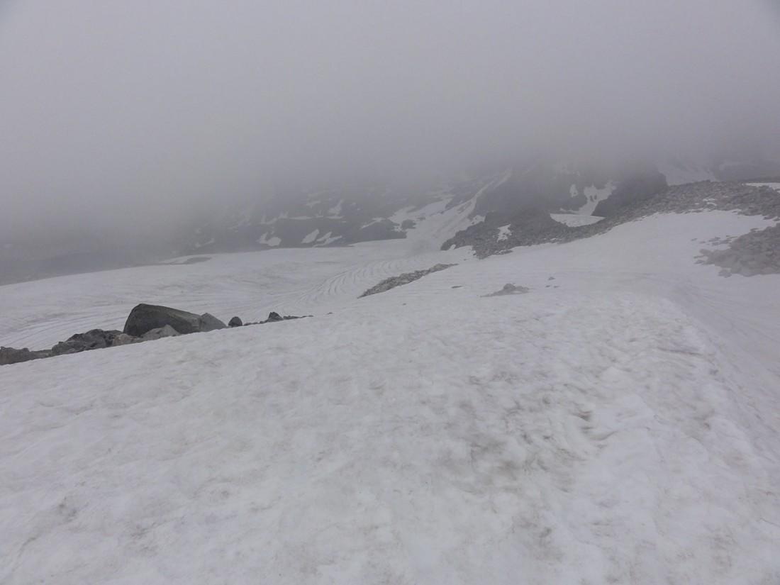 Arnoweg: Endlich verzieht sich der Nebel und wir können uns wieder orientieren.