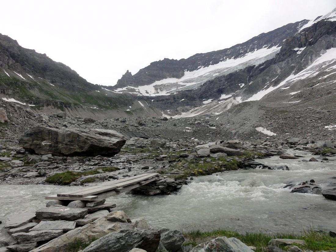 Arnoweg: Unteres und oberes Rifflkees unter der Hohen Riffl (3336 m)