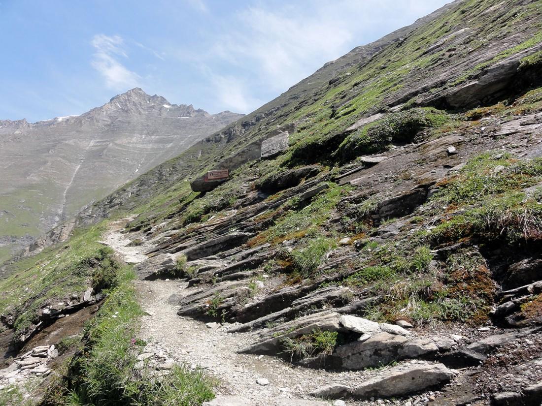 Arnoweg: Vom Speichersee Mooserboden geht es wieder 800 Höhenmeter bergauf zum Heinrich-Schwaiger-Haus.