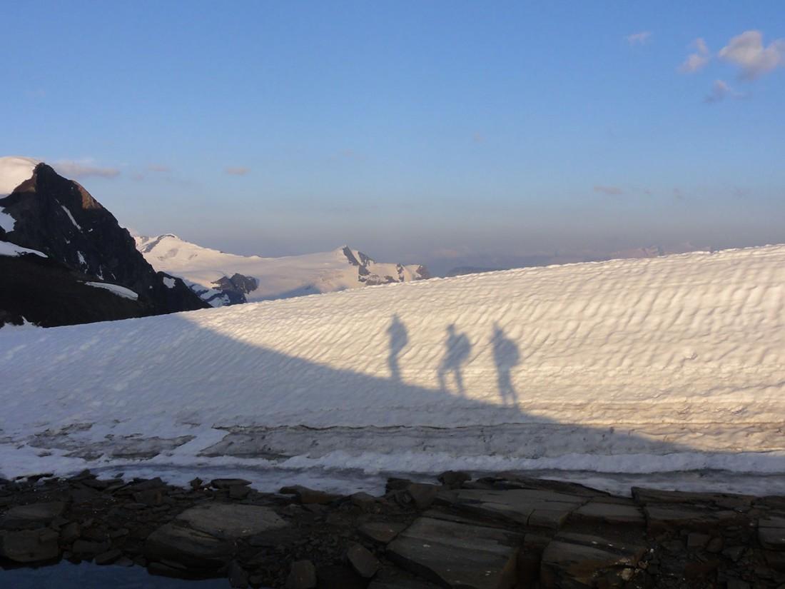 Arnoweg: Unsere Seilschaft auf das Große Wiesbachhorn