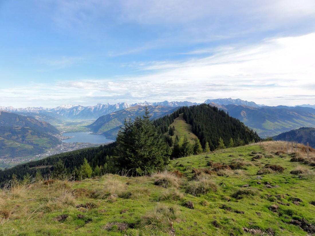 Arnoweg: Blick zurück nach Norden über die Piffscharte zum Zeller See