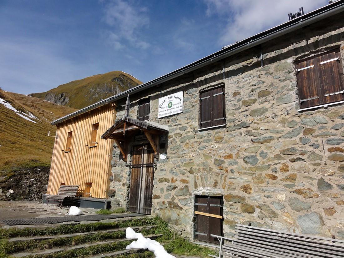 Arnoweg: Die Gleiwitzer Hütte hatte bereits geschlossen.